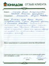 Отзыв Мизиряк Елены Владимировны и Костылева Николая Кронидовича