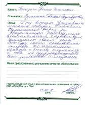 Григорян Г.Г. О работе Бумагиной Дарьи