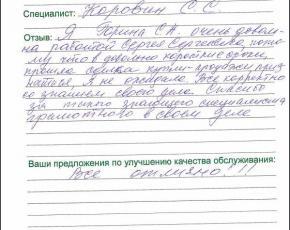Горина Светлана Алексеевна о работе Коровина Сергея