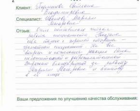 Отзыв Подлесновой Светланы Владимировны