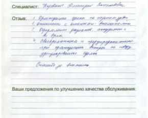 Отзыв Щербич Юрия Ивановича