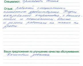 Нестерова Елена Валерьевна о работе  Ермаковой Юлии