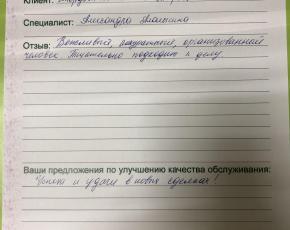 Смердова Валентина Валерьевна о работе Алалыкиной Александры