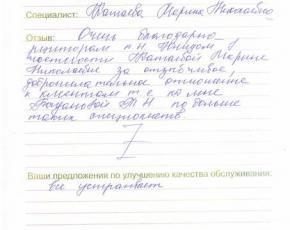 Отзыв Богдановой Татьяны Николаевны