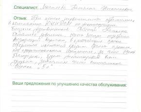 Добрынин Владимир о работе Мастяевой Татьяны