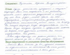 Отзыв Мышинской Светланы Владимировны
