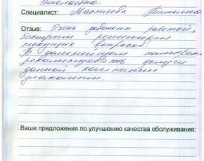 Отзыв Котовой Анастасии Николаевны