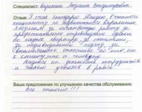 Отзыв Кудайбердиевой Назгули Исмаиловны