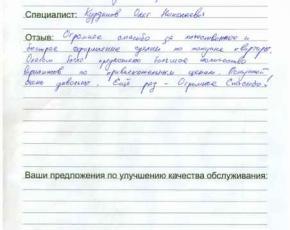 Отзыв Козлова Андрея Юрьевича