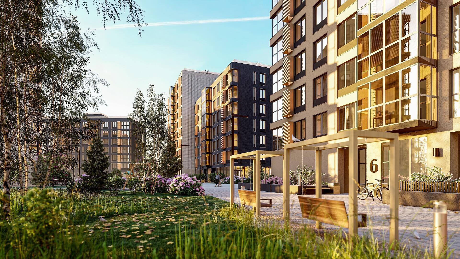 Новый жилой комплекс в районе Дударева