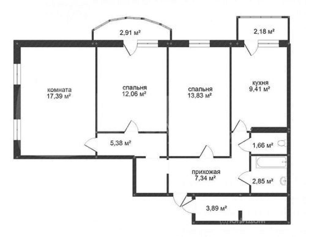 Продам 3-комн. квартиру по адресу Россия, Тюменская область, Тюмень, Беловежская 7 к1 фото 25 по выгодной цене